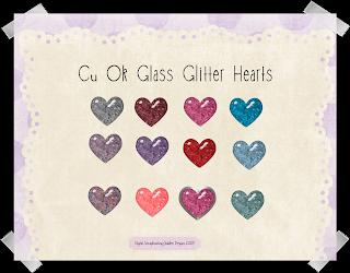 Glass Glitter Hearts - By: Digital Scrapbooking Goddess CuokGlassGlitterHeartspreview