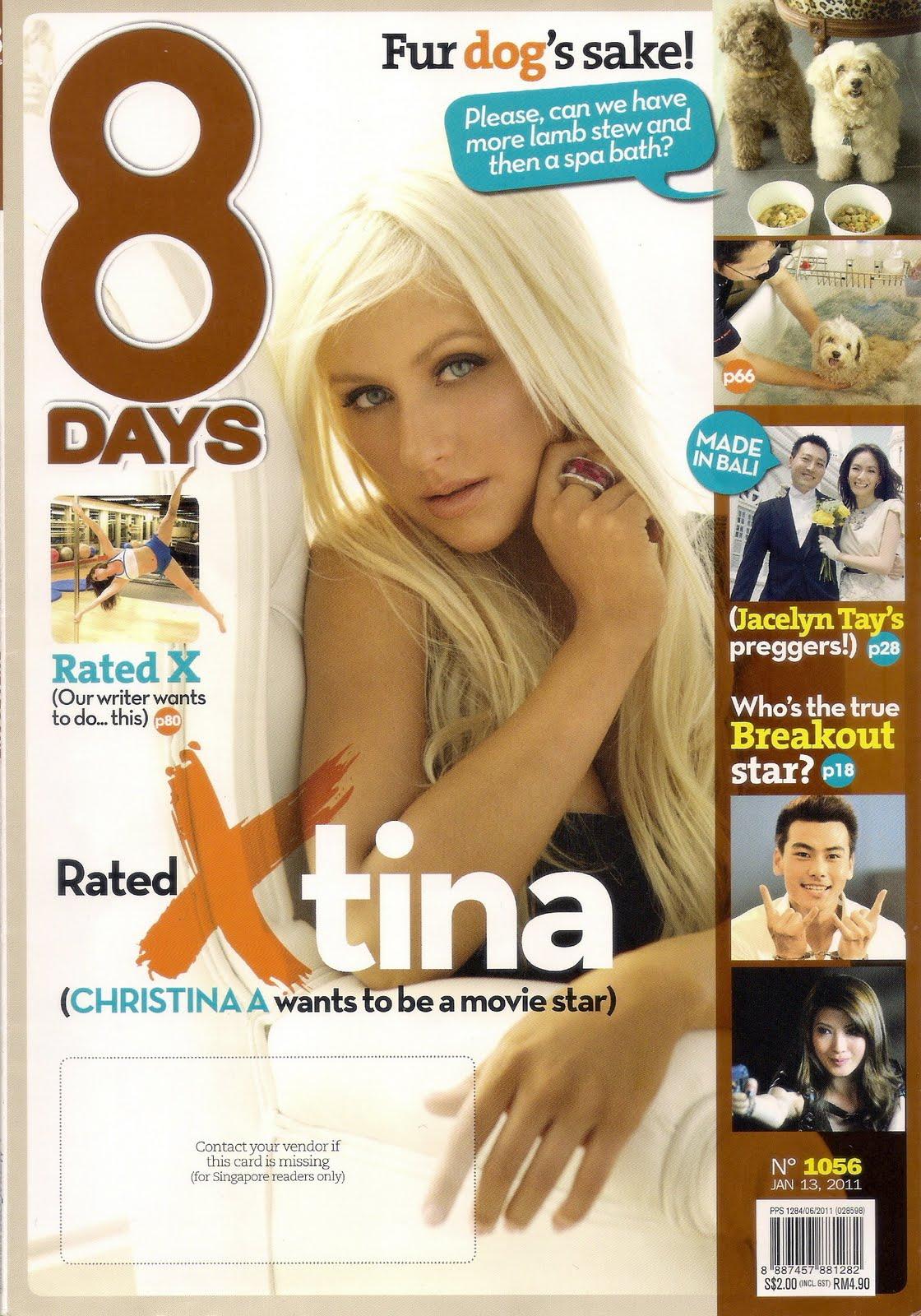 Christina en cover de'8 DAYS'  Scan01