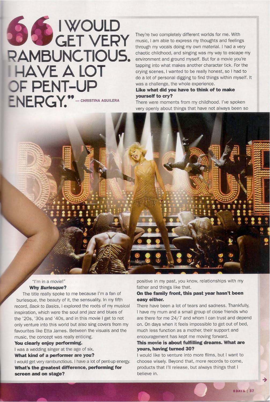 Christina en cover de'8 DAYS'  Scan07