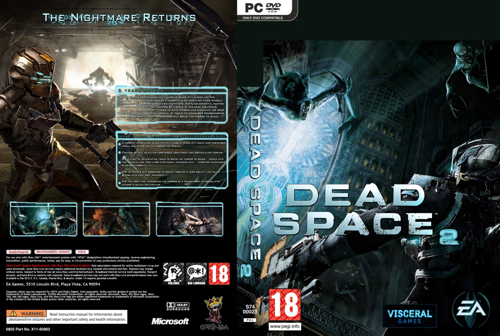 Dead Space 1 \ 2 PC בלינק 1 מהיר Dead_space_2_2011_pc_custom_dvd-front