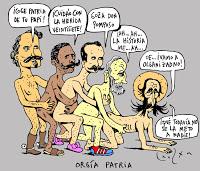 En desacuerdo con Guama Orgia-patria