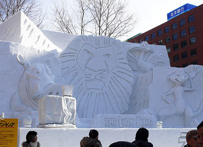 Sapporo Snow Festival 2011 Lion
