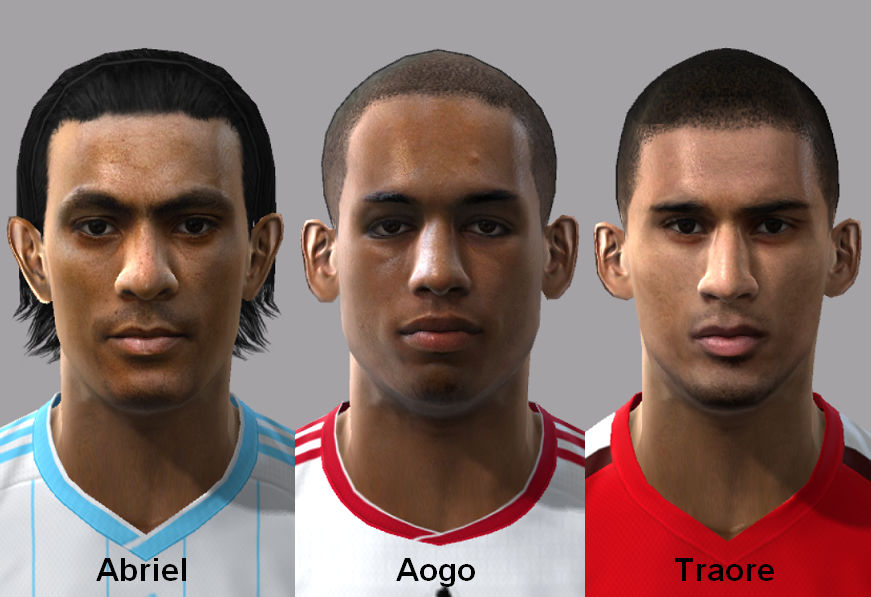 Pes 2010 - Abriel, Aogo, Traore Face Preview