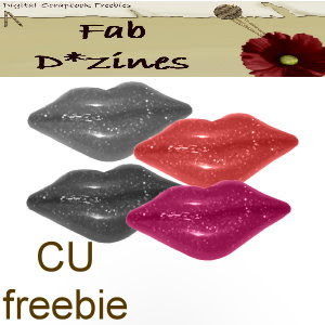 Valentine Glitter Lips - By: FabD*zines Lips