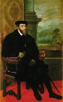 الرسام الايطالي العالمي تييتان ومجموعه من لوحاته 1548_Portrait_of_Charles_V_Seated