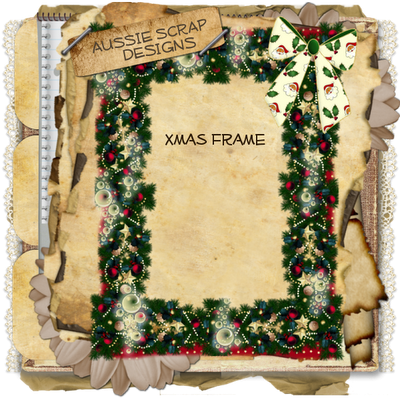 ~ Christmas Frame ~ Freebie CU by Aussie Scrap Designs Xmas_Frame1