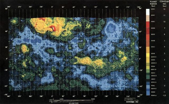 guerra - Curiosidades de la guerra fría: la URSS Venus_mapa