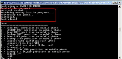 Liberar el LG Kp500 y LG Kp570 Venekp