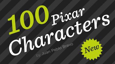 Les personnages Pixar et leur taille vus par Juan Pablo Bravo! Pixar1