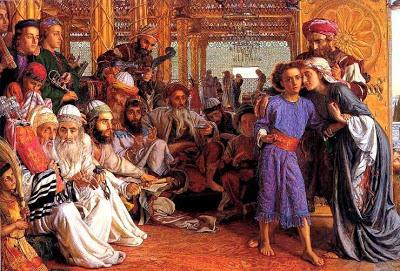 5/Famille/Sujet/L'annonce du Royaume de Dieu William_Holman_Hunt_Finding_Jesus_in_the_Temple_j5