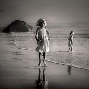 Crno-bela fotografija Black-and-white-beach