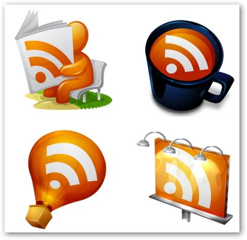 Những bộ RSS Feed Icon tuyệt đẹp RF01