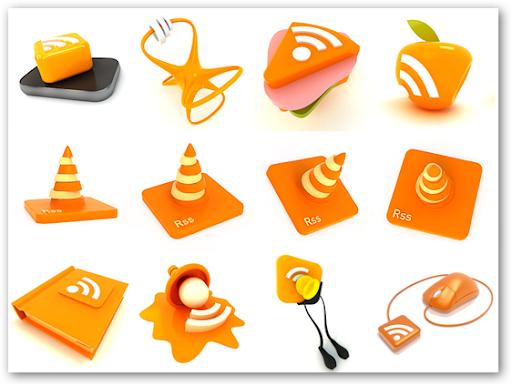 Những bộ RSS Feed Icon tuyệt đẹp RF03