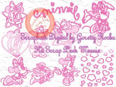 {Kits Digitais} Disney - Mickey, Minnie, Baby Disney Preview
