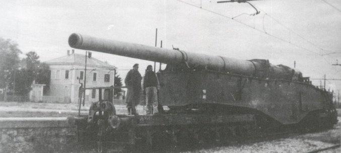 Topčina na RI kolodvoru (1945.) Eisenbahnbatterie%2B749%2B1%2BHASM