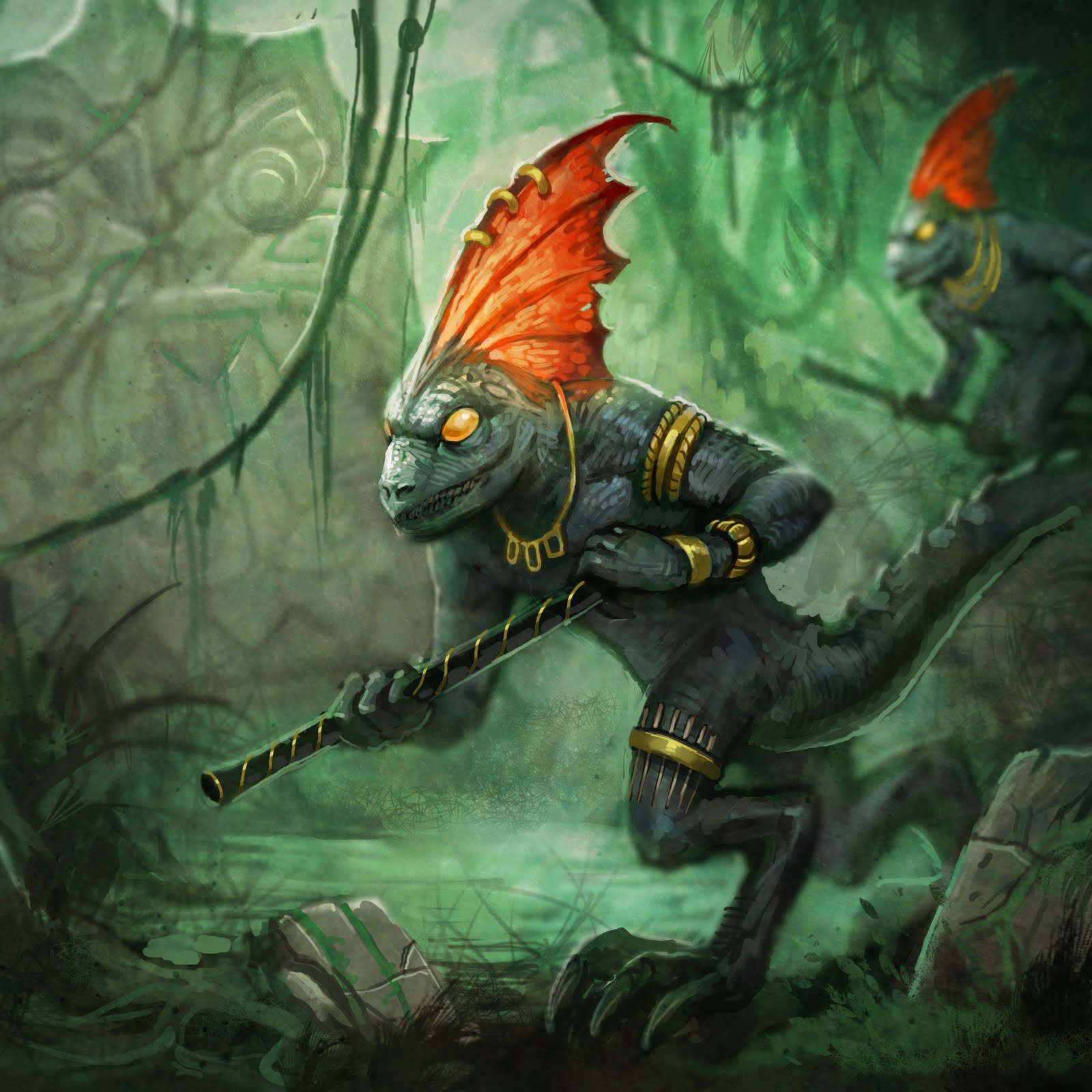 The Reptilian Tribes Skinks_of_sotek_rough_3