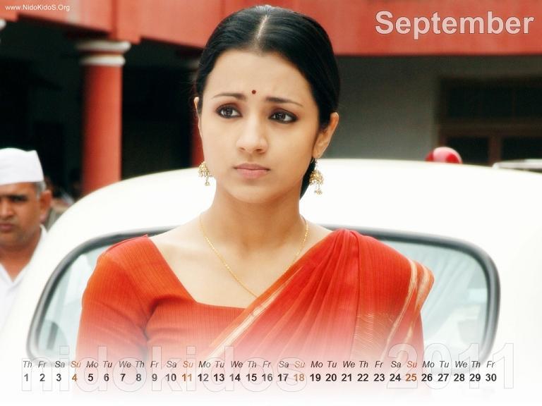 Trisha Krishnan Trisha-New-Year-Calendar-2011-Desktop-Calendar-September