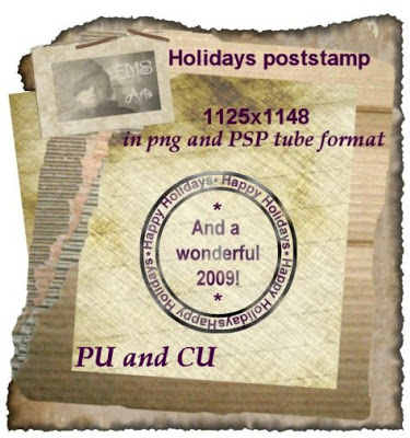 Holiday Post Stamp Stamppromo