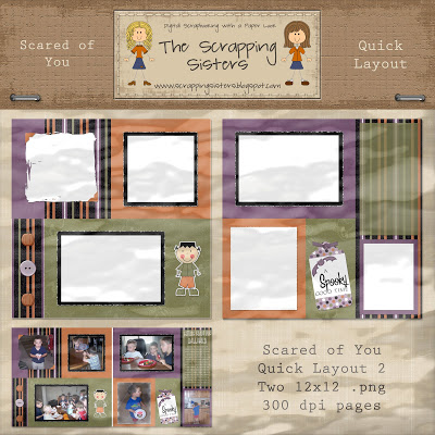 Scared of You Quick Layouts by Scrapping Sisters _ScrapSis_SY_QuickLayout2Preview