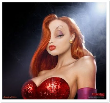 Painting Red Hair Jessica-rabbit-real