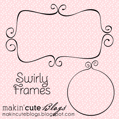 Vector Swirly Frames designed by Makin' Cute Blogs MakinCuteBlogs-SwirlyFrames