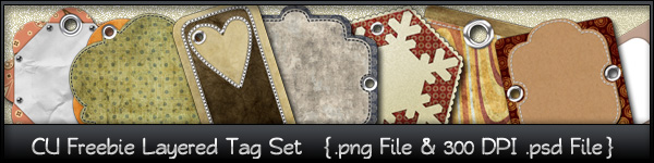 CU4CU Layered Tag Set Commercial_use_scrapbook_layered_tag_set