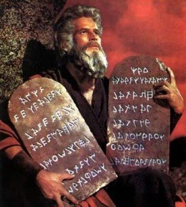 Christian Bale's Comment About 'Schizophrenic' Moses Provokes Ire Of America's Religious Right 10-commandments-tablets-270x300