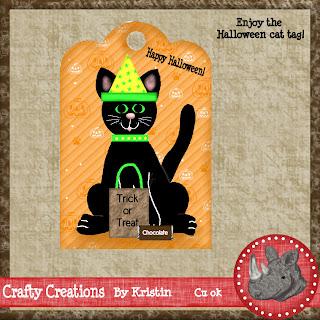cute black cat tag by kris123 Hallocatdisplay