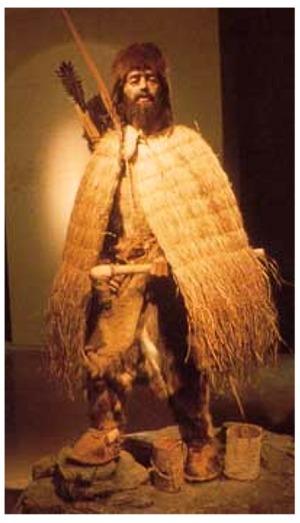 Tres personajes de la Prehistoria Otzi