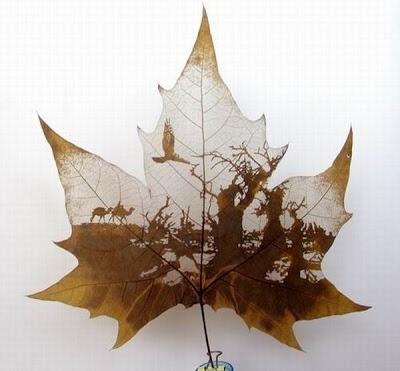 இலைகளில் அழகிய உருவங்கள்  Figures-on-leaves-06