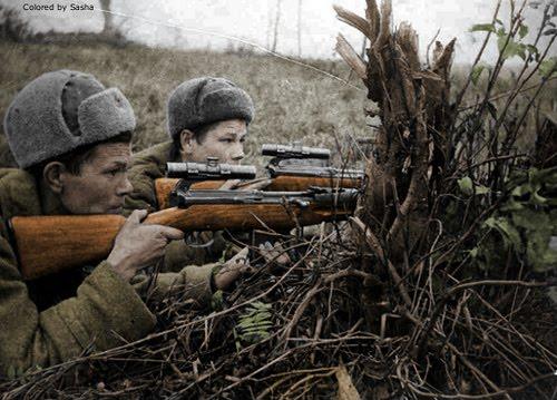 soldats soviétiques _francotirador