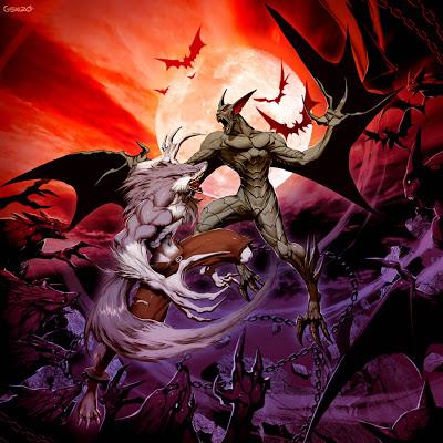 (((Versus Hero Arena)))2.9C Vampire_VS_Werewolf_by_GENZOMAN