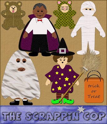 Halloween Costumes - By: The Scrappin Cop SC_PaperDollHalloween_Preview