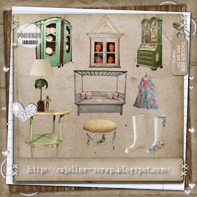 """Freebie """" Maison originale """" - Embellissements CU4CU 9 éléments originaux - TAGGER SIZE - PNG 300 DPI - CU4CU Cajoline_maisonoriginale_preview"""