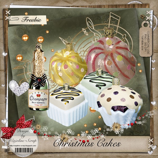 CHRISTMAS CAKES WITH CHAMPAGNE ! CU Cajoline_christmascakes_pv