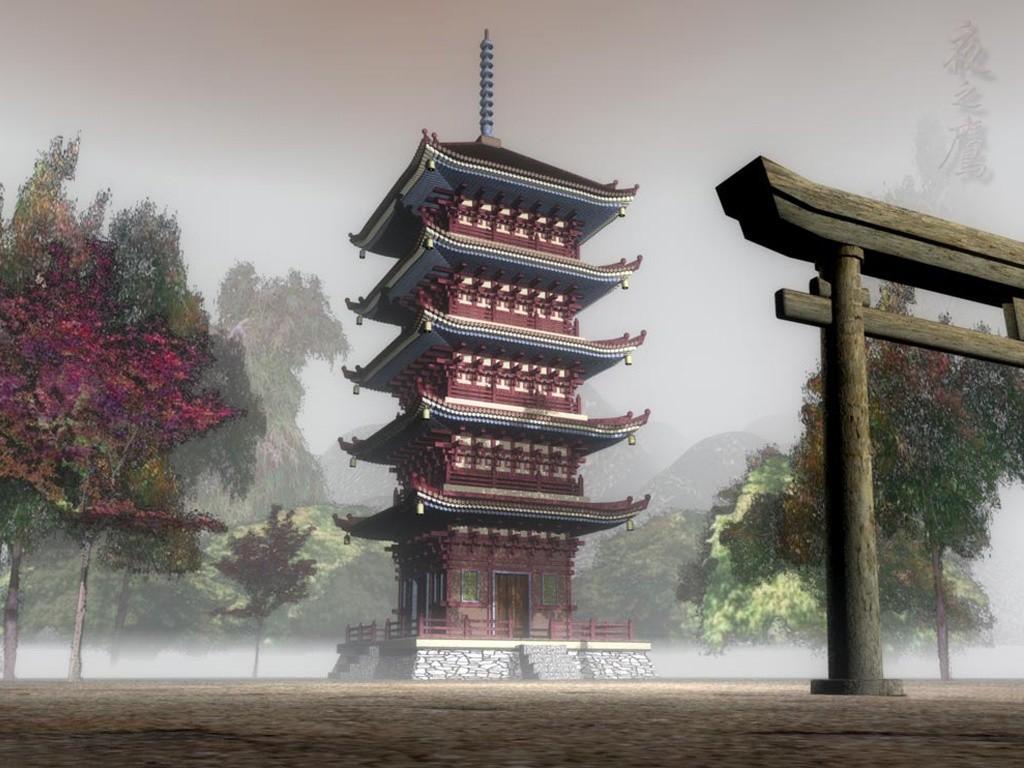 Templo del Clan Hyuga Templo-japones%25201024x768