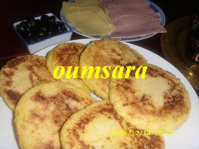 Mini-Harcha ou Mini-7archa marocaine à base de farine de maïs Harchailham
