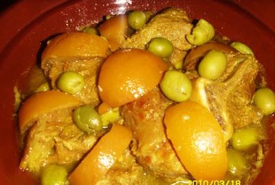Le Vrai Tajine marocain à la viande, aux olives et citron confits (Tajine b' zitoune ol7amid mssayir) Cuisin18