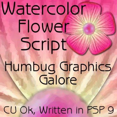 Watercolor Flower Script (Humbug Graphics Galore) Preview
