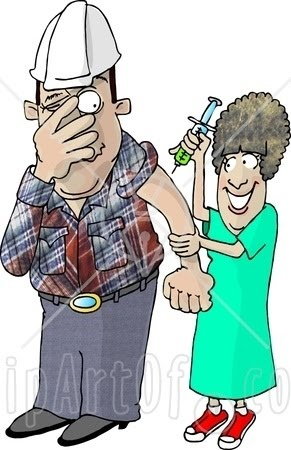 Petit-déjeuner et causerie avec Kami 5991-Scared-Worker-With-Trypanophobia-Getting-A-Flu-Shot-From-A-Nurse-Clipart-Picture
