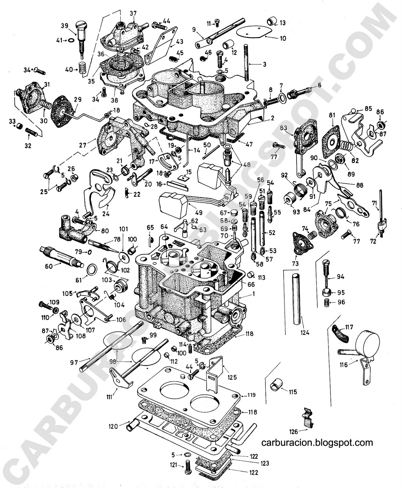 Schéma carburateur Weber 32 DRTM Weber-32-drt-2c-renault-9-11-1600-cc