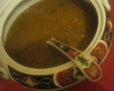 حريرة/Traditional Moroccan Harira or 7rira made with Khmira L'baldiya (Sourdough Starter) / Harira or 7rira marocaine traditionnelle préparée avec Khmira L'baldiya (Levain Traditionnel ) 11