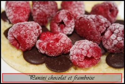panini chocolat et framboises IMG_5537