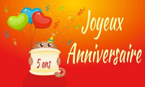 5 ans !!!!! ptain déjà. .. Carte-anniversaire-humour-5-ans-chat