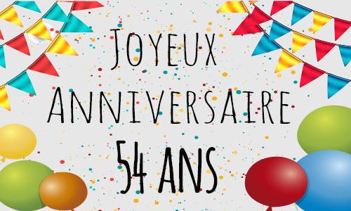Bon anniversaire Jean Pierre  Carte-anniversaire-humour-54-ans-confetti