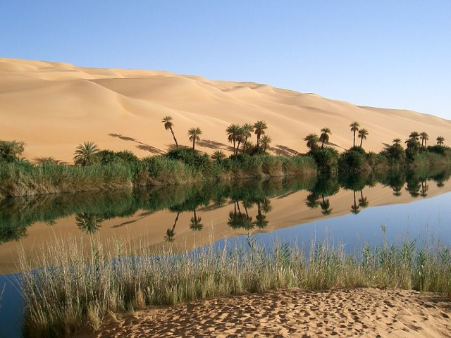 Las maravillas del desierto del Sahara Oasis_in_Libya-e1397266224113