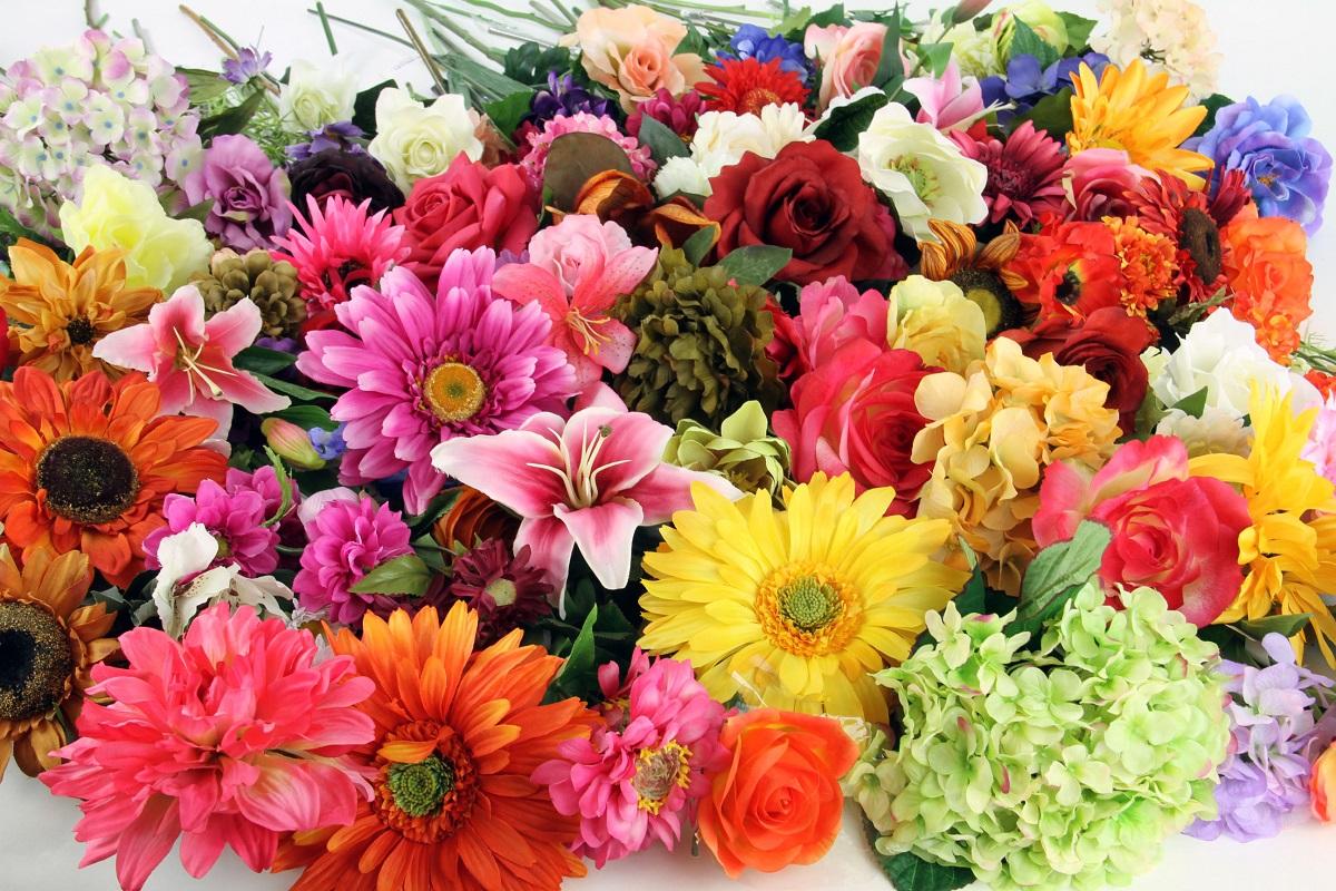 Энергетическая чистка искусственных цветов Silk-Flower-Stems-Shinoda-Design-Center