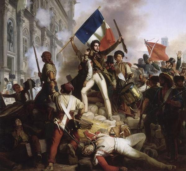 REPORTAGES PHOTOS Revolution-de-1830---combat-devant-l--hotel-de-ville---28.07.1830