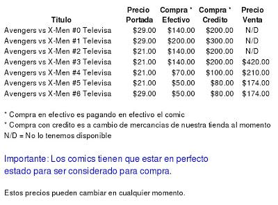 El precio de los comics según el ojo con que se mira.  Fantastico%2Btelevisa