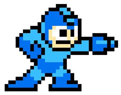 Mega Man no Paintball!? Mega-man-pixel